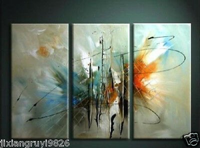 NEW - 3pc ABSTRACT HUGE WALL ART Hand OIL PAINTING ON CANVAS (No frame)