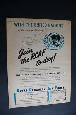 Early RCAF United Nations Ad 1950