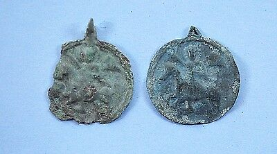 Medieval Viking period Christianity Medalion with St. George image pendant lot
