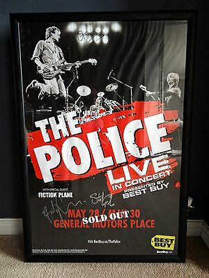 Police Reunion Hand Signed Tour Poster - Sting - Stewart Copeland - Andy Summers