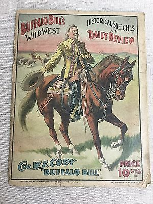 Vtg Buffalo Bill Wild West Historical Catches Booklet w/ Official Program AS-IS
