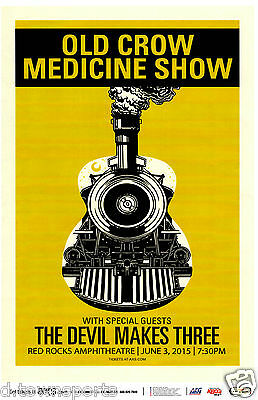 OLD CROW MEDICINE SHOW 2015 Tour -  Red Rocks 11x17 Gig Flyer / Show Poster