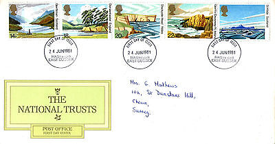 24 June 1981 National Trusts Post Office First Day Cover Hastings East Sussex