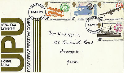 12 June 1974 Universal Postal Union Post Office First Day Cover Birmingham Fdi