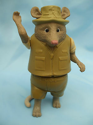 "Collectable 2009 4"" MacDonalds Rat Toy with movable Arms and Body"