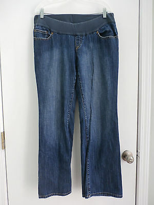 Old Navy Denim stretch Maternity women's blue jeans boot cut pants size Large