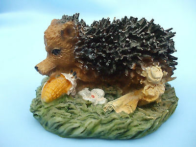 Collectable Hedgehog Ornament Eating Corn