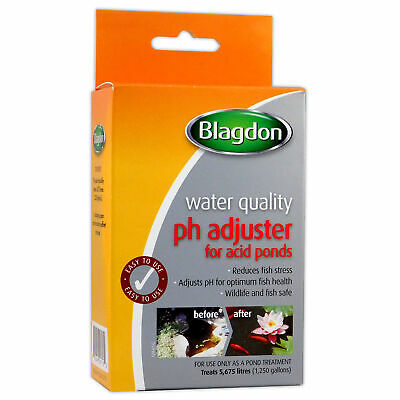 BLAGDON pH ADJUSTER FOR ACID POND WATER TREATMENT ACIDIC FISH HEALTH GARDEN KOI