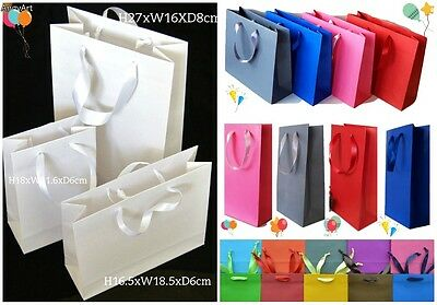 15 Paper Gift Party Bags Red Grey Pink Royal Blue Hen Wedding Candy Gift Shops