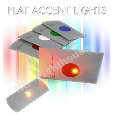 Flat Accent LED Lights - Great for Frisbee Golf Discs and other uses. Red 2 pc.