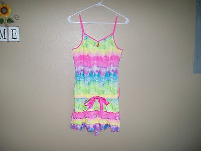 Justice Girls Bright Colorful One Piece Romper Size 16/18 Adjustable Straps