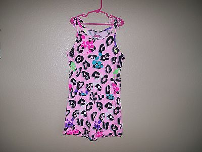 New! Circo Girls Pink Colorful Cheetah Print One Pc. Romper Size 7/8