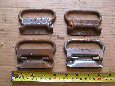 4 Vintage Metal Stanley Pulls Folding Drop Handles Tool Box Chest Trunk