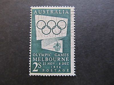 1955 - Australia - Olympic Circles And Arms Malbourne - Scott 286 A85 2Sh (1)