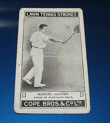 Cope Bros Lawn Tennis Strokes #3 Manuel Alonso Back Hand Drive