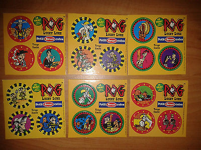 Lot 6 Planches Pogs Lucky Luke