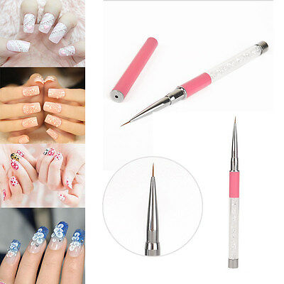 Brosse Pinceaux Ongle Manucure Stylo Décor Liner Acrylique UV Gel Nail Art Tips
