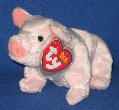 TY LUAU the PIG BEANIE BABY - MINT with MINT TAGS