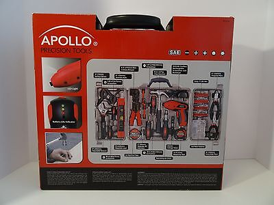 Apollo Household 161 Pc Tool Kit - 4.8V Rechargeable Cordless Screwdriver - Nrfb