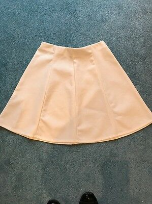 Girls White Leather Look Skirt By River Island Age 11/12 Yrs BNWOT Skater Style