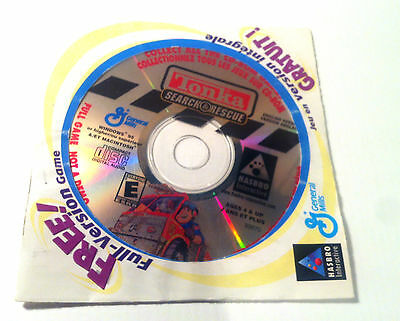 TONKA Search & Rescue Windows Computer Cd Game Hasbro General Mills