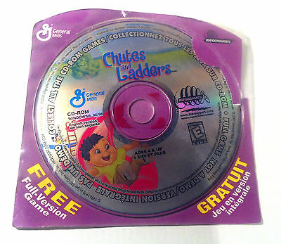 CHUTES AND LADDERS Windows Computer Game Cd General Mills 2001