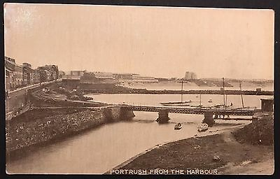 Portrush from the Harbour Co Antrim Postcard 1930's Ireland
