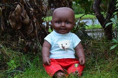"""Large 18"""" American Black African Doll Charles Baby Boy Doll 46Cm Afro Doll"""