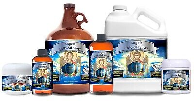 Angels Colloidal Silver Highly Concentrated Antibiotic Colds Flue pets Cream Gel