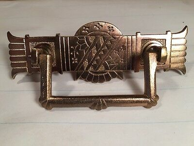 Large Antique Original Vintage Victorian brass pull