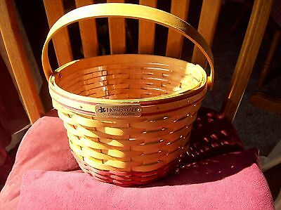 Longaberger 1999 Homestead Collectors Club Edition Apple Basket w/Protector