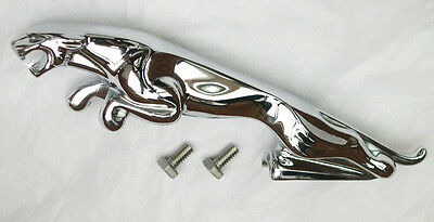 Jaguar Leaping Cat Large Chrome Bonnet Mascot / Emblem, Jag part BD10954
