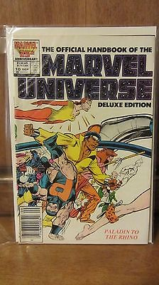 The Official Handbook of the Marvel Universe #10 (Sep 1986, Marvel)