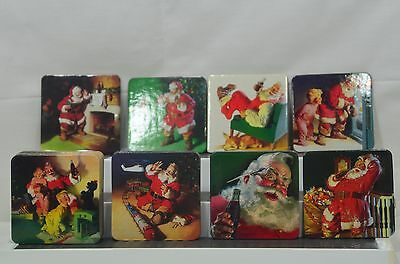 Coca Cola Coke Santa Claus Christmas Holiday Coasters Lot 26 Cork