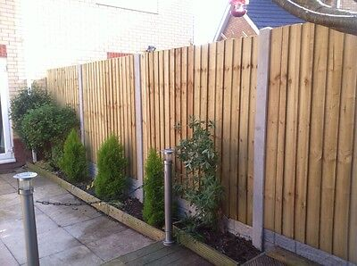 Timber Garden Fence Panels Featheredge / Close board  5ft5 x 6ft  Heavy Duty