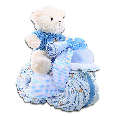 Blue Diaper Cakes For Boys Diapers Baby Shower Showers Gift Ideas Motorcycle