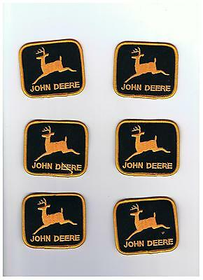 lot of 6 john deere patches orange and black
