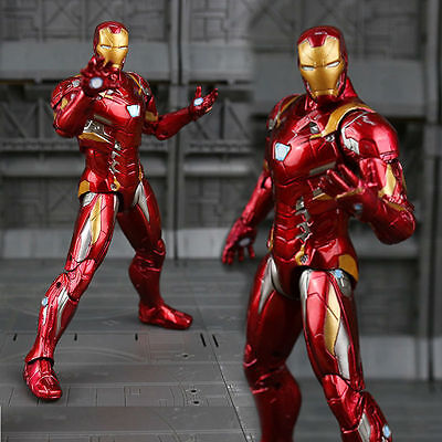 Marvel Captain America War Iron Man PVC Action Figure Collectible Model Toy