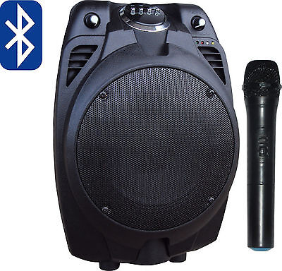 Portable PA Speaker System with Mic Wireless Active Guitar Amplifier Bluetooth