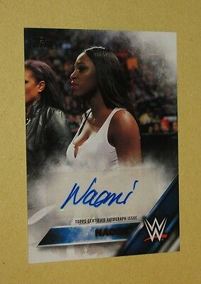 2016 Topps WWE Then Now Forever Naomi Autograph Card #d 35/99!