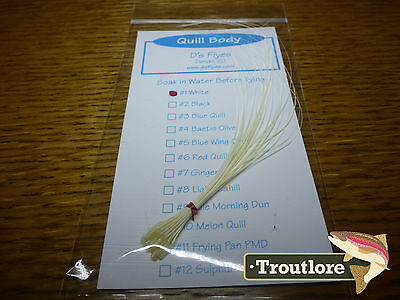 Quill Body Pack White Qb1 Stripped Quills New Fly Tying Material Feathers