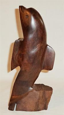 Ironwood Dolphin Hand Carved Flat Nose Dolphin/porpoise Standing Dolphin Statue