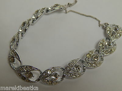 Beautiful Sarah Coventry Silver Tone & Clear Rhinestones Bracelet