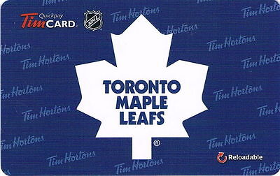 Toronto Maple Leafs 1970 to 2016 Logo Tim Hortons Collectable Gift Card