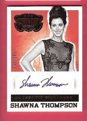 SHAWNA THOMPSON SQUARE CERTIFIED AUTOGRAPH CARD #d285 2014 PANINI COUNTRY MUSIC