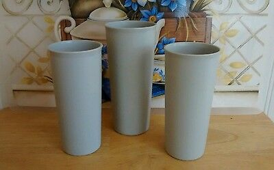 Gray Tupperware  Tumblers Lot of 3
