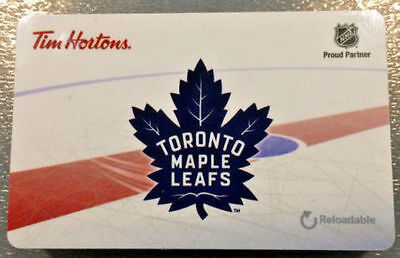 2016 Toronto Maple Leafs (FD53944) Tim Hortons Collectible Gift Card