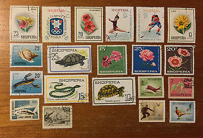 Albania - 20 Assorted Postage Stamps