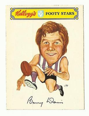 1974 Kelloggs Sticker  NORTH MELBOURNE Barry Davis
