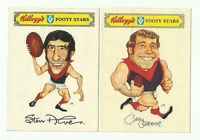1974 Kelloggs Sticker MELBOURNE Team Sets -  Alves,Tilbrook